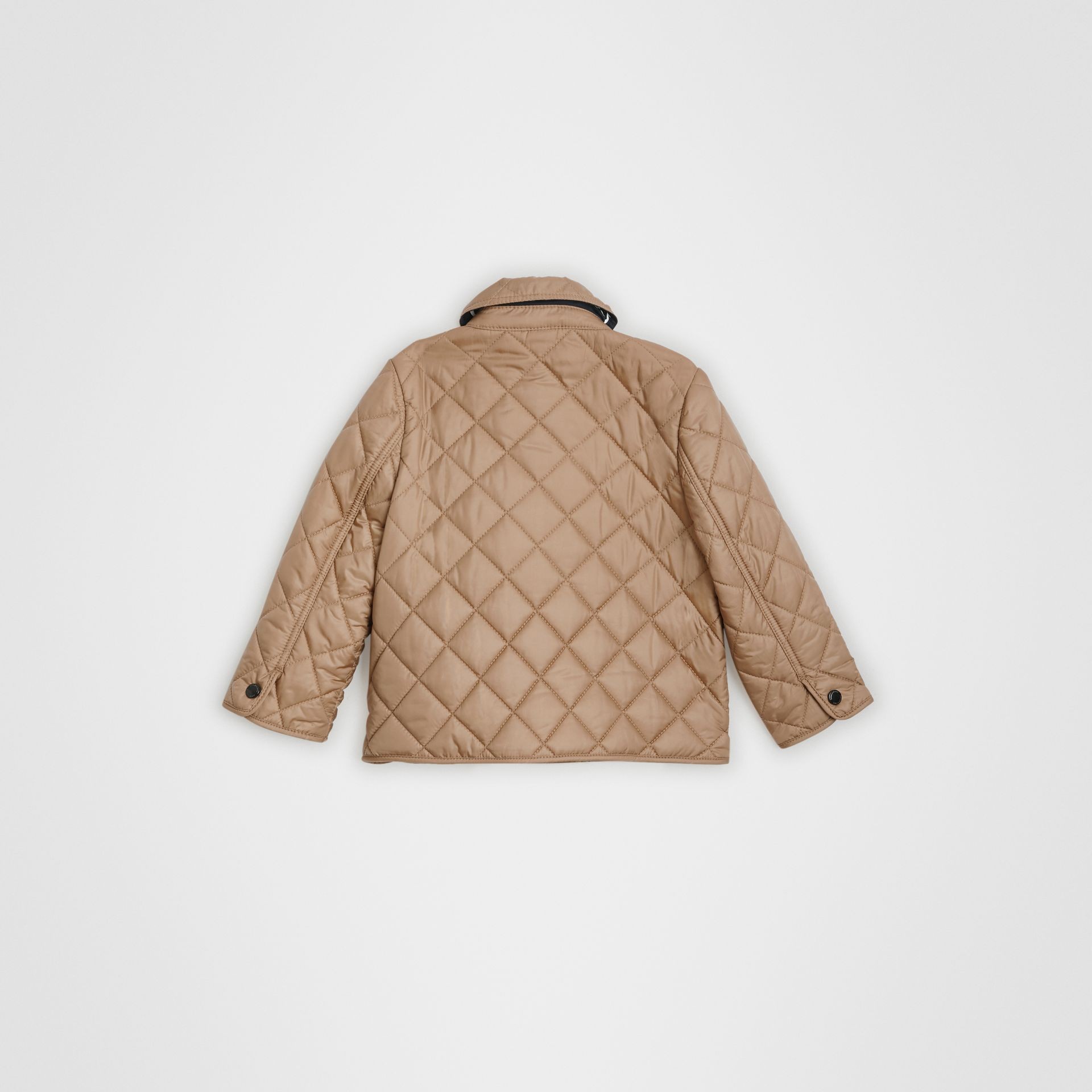 Lightweight Diamond Quilted Jacket in Camel - Children | Burberry - gallery image 3