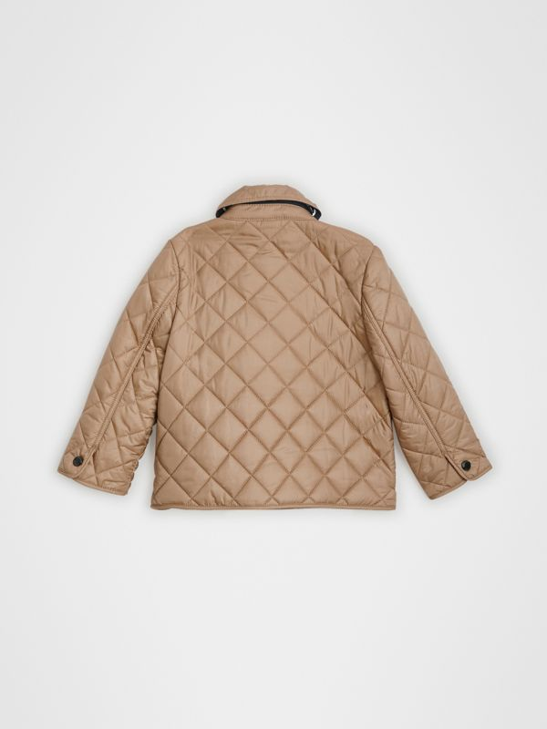 Lightweight Diamond Quilted Jacket in Camel - Children | Burberry - cell image 3