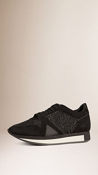 The Field Sneaker in Lace and Suede