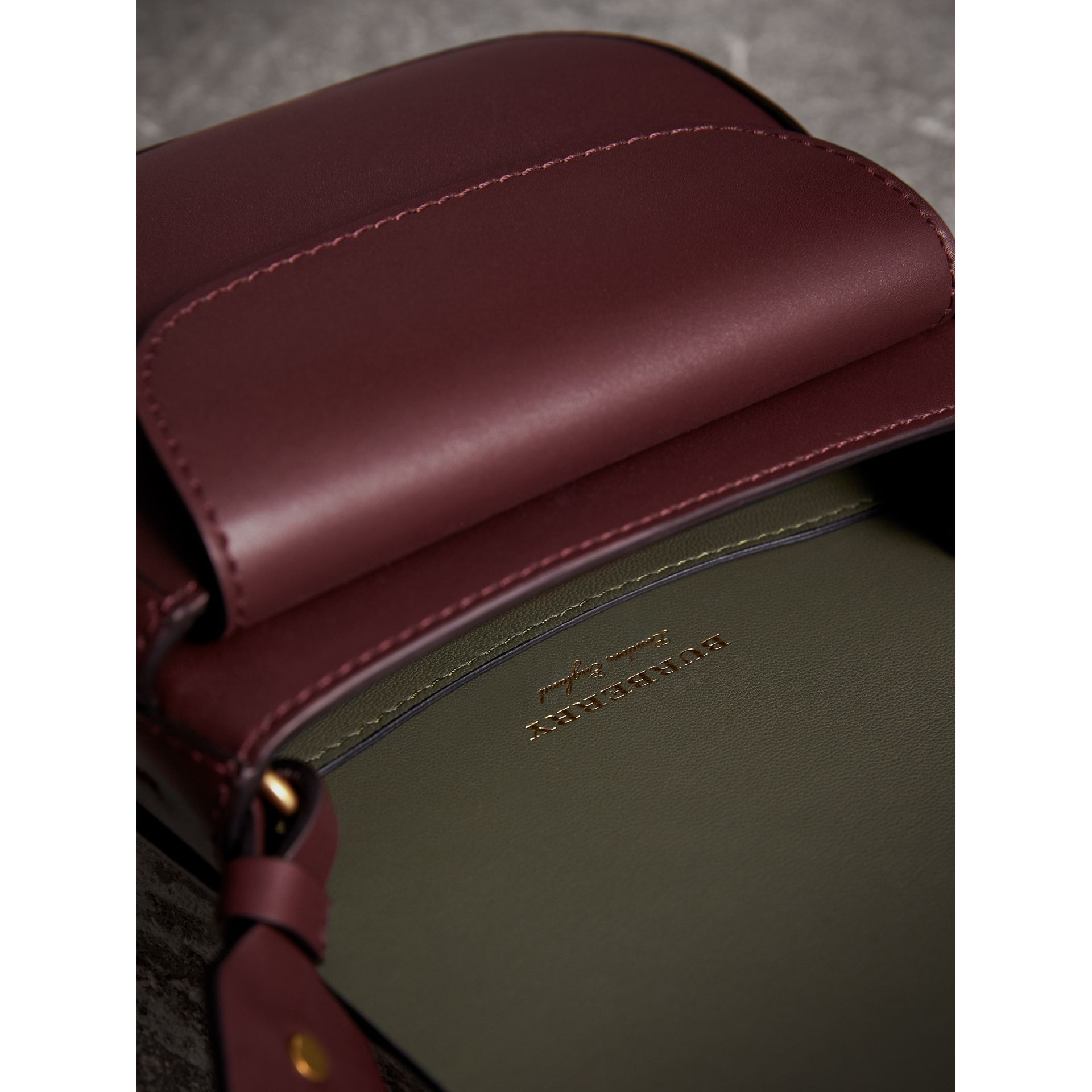 The Satchel in Bridle Leather in Deep Claret - Women | Burberry Australia - gallery image 5