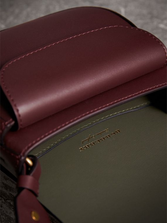 The Satchel in Bridle Leather in Deep Claret - Women | Burberry - cell image 3