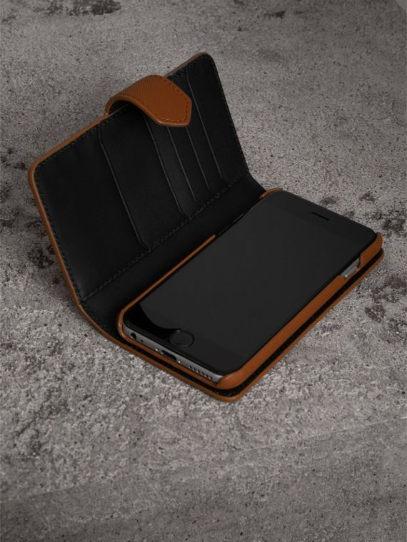 Trench Leather iPhone 7 Case in Tan - Men | Burberry - cell image 3