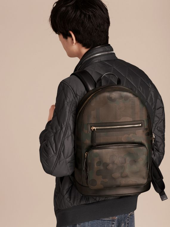 Chocolate Camouflage Print London Check Backpack - cell image 2