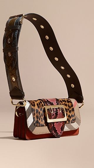 The Patchwork in Leopard-print Calfskin and Textured Suede