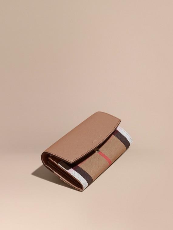 Классический бумажник в клетку House Check Мокрый Песок