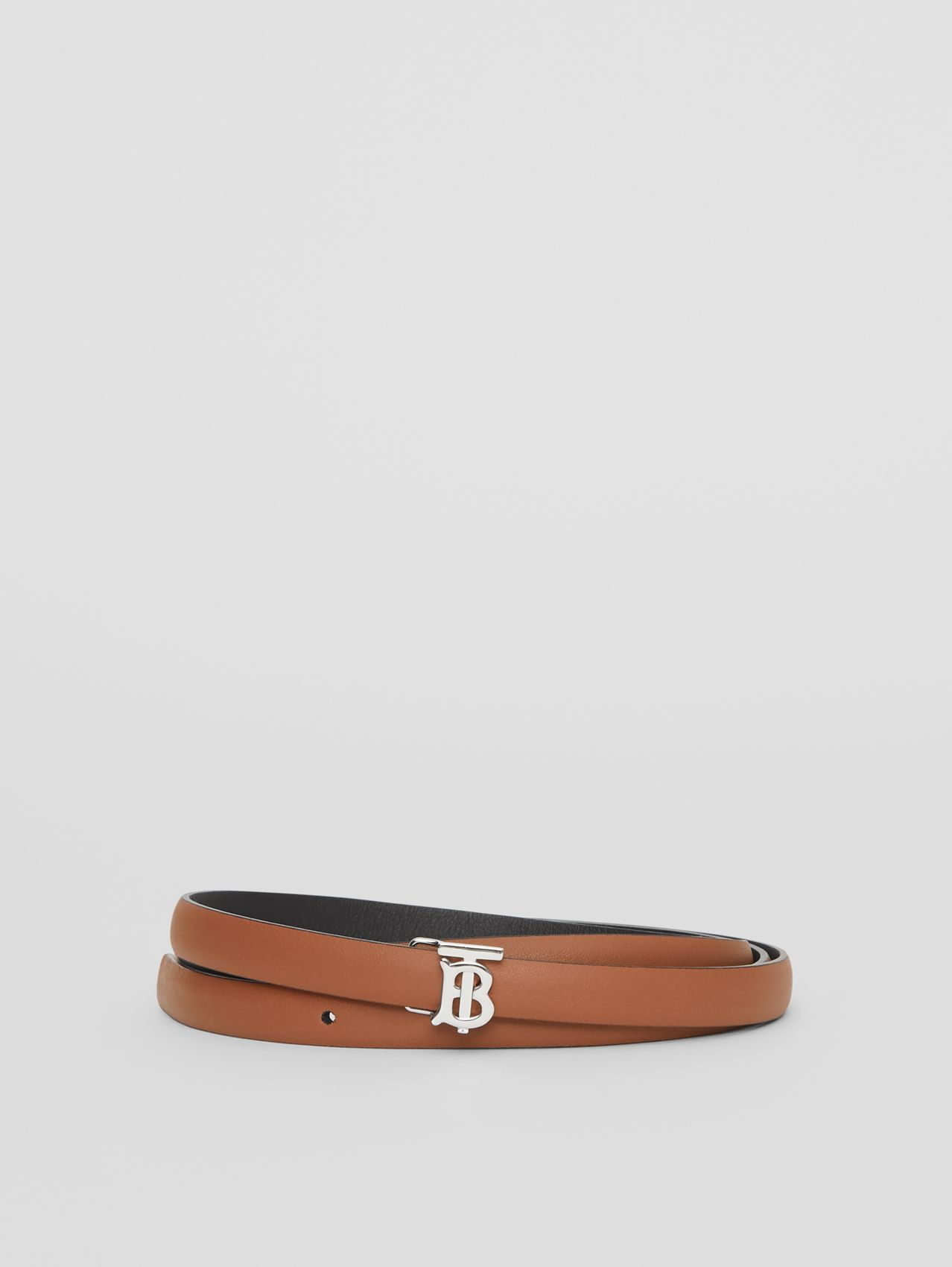 Reversible Monogram Motif Leather Wrap Belt in Malt Brown/black