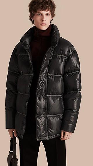 Abrigo acolchado con relleno de plumón