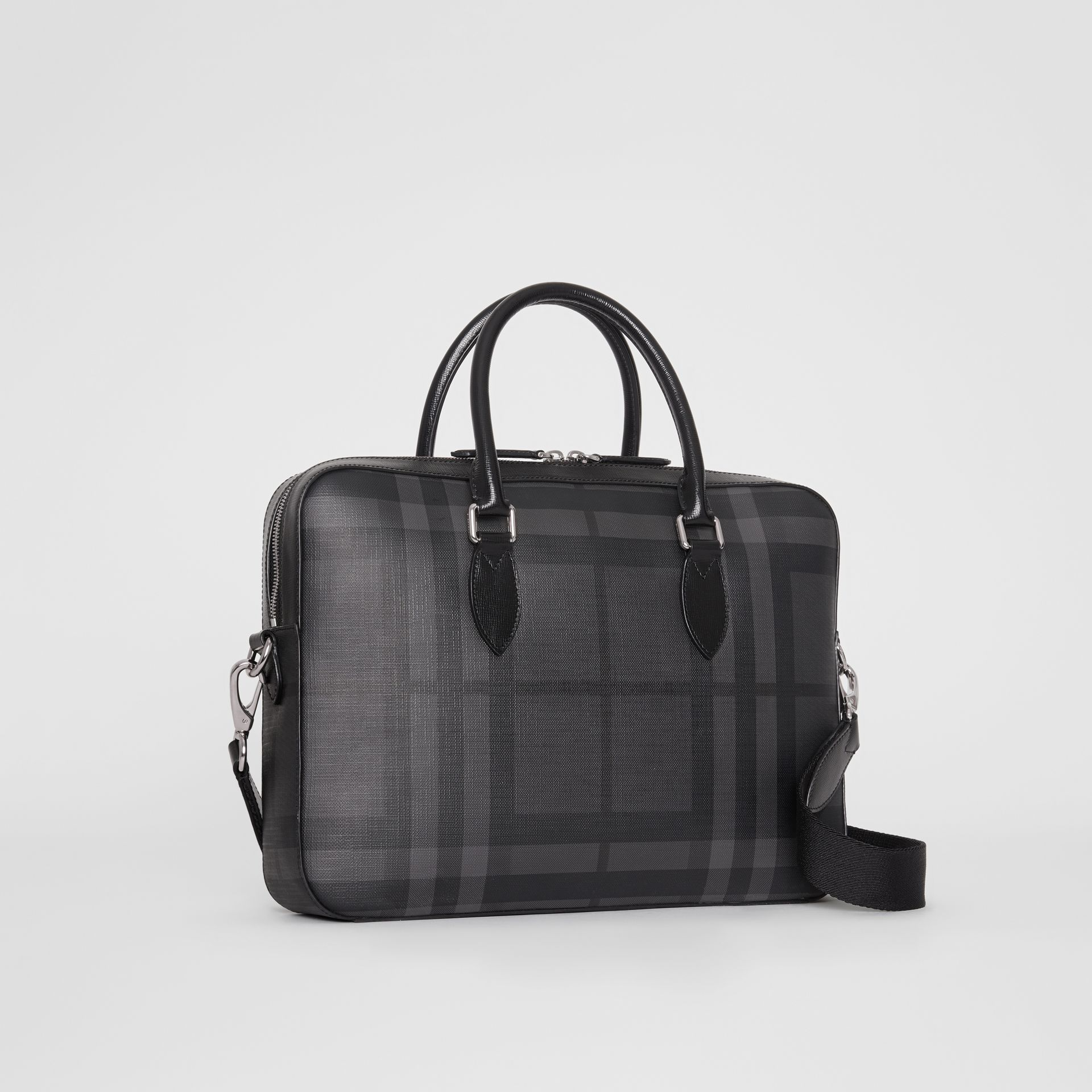 Sac The Barrow fin avec motif London check (Anthracite/noir) - Homme | Burberry Canada - photo de la galerie 6