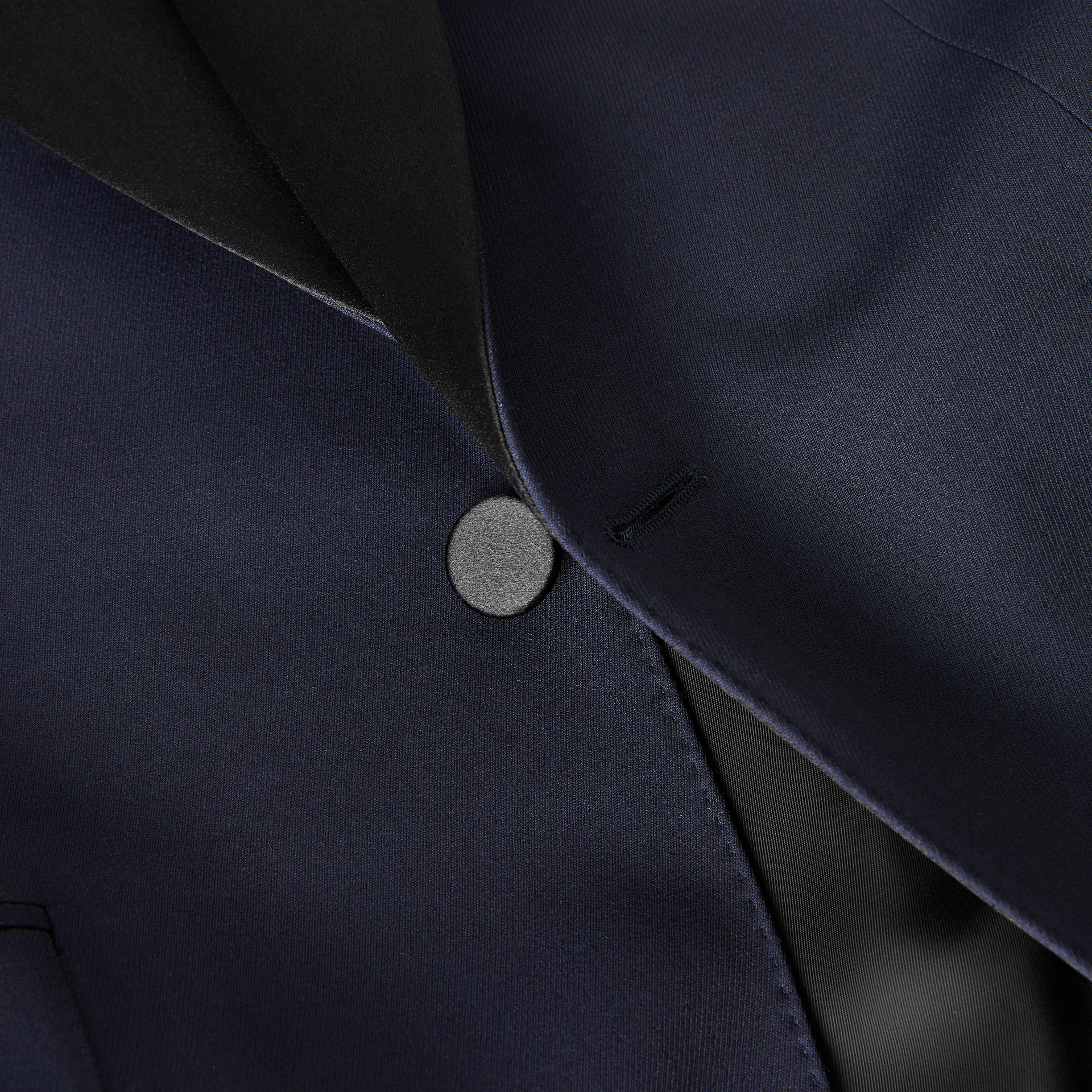 Classic Fit Wool Silk Tuxedo in Navy - Men | Burberry - gallery image 9