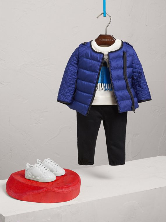 Down-filled Quilted Jacket in Dark Cobalt