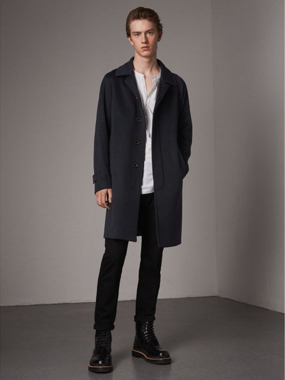 Cappotto car coat in cashmere (Navy)