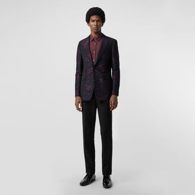 Slim Fit Silk Wool Matelassé Evening Jacket by Burberry