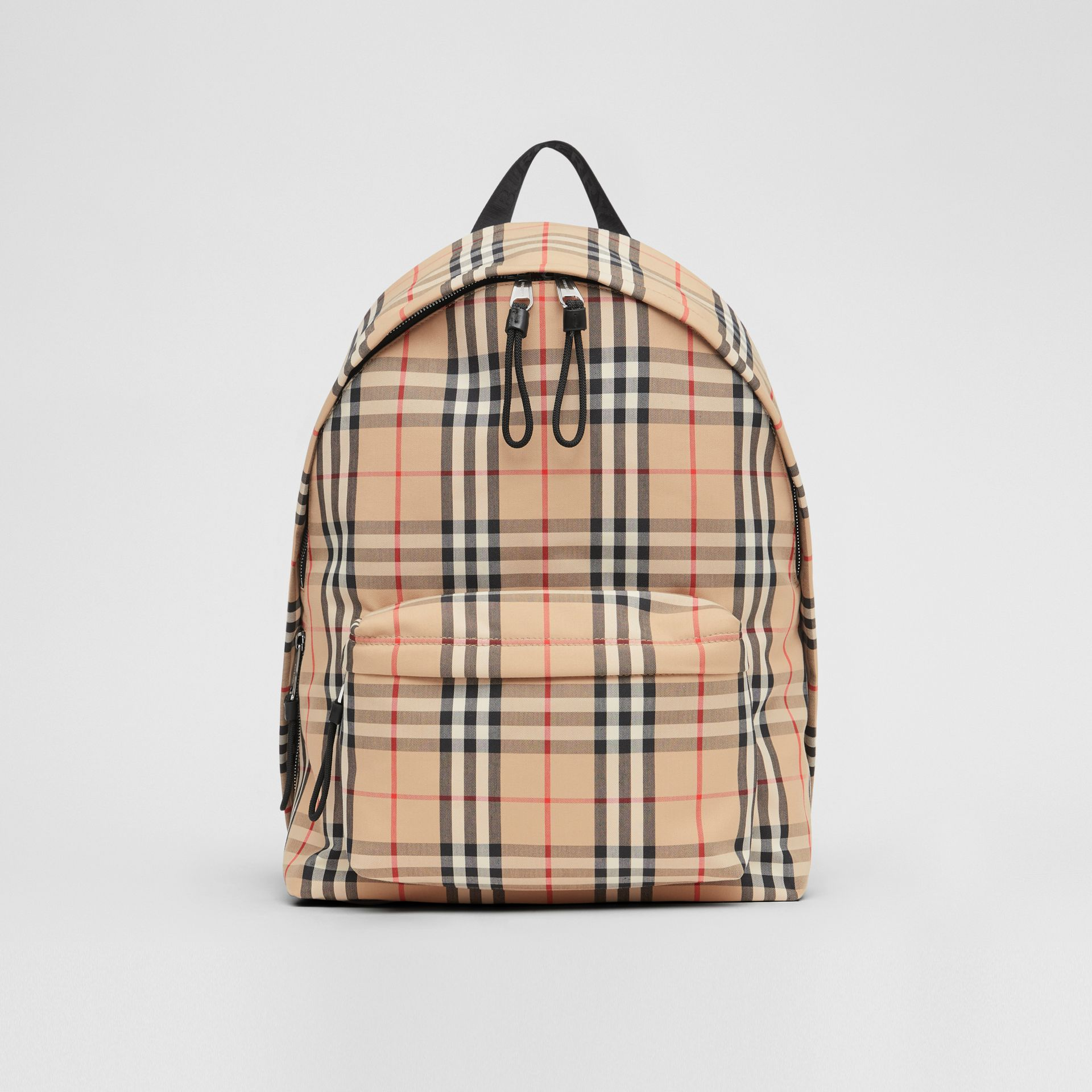 Vintage Check Nylon Backpack in Archive Beige | Burberry Australia - gallery image 0