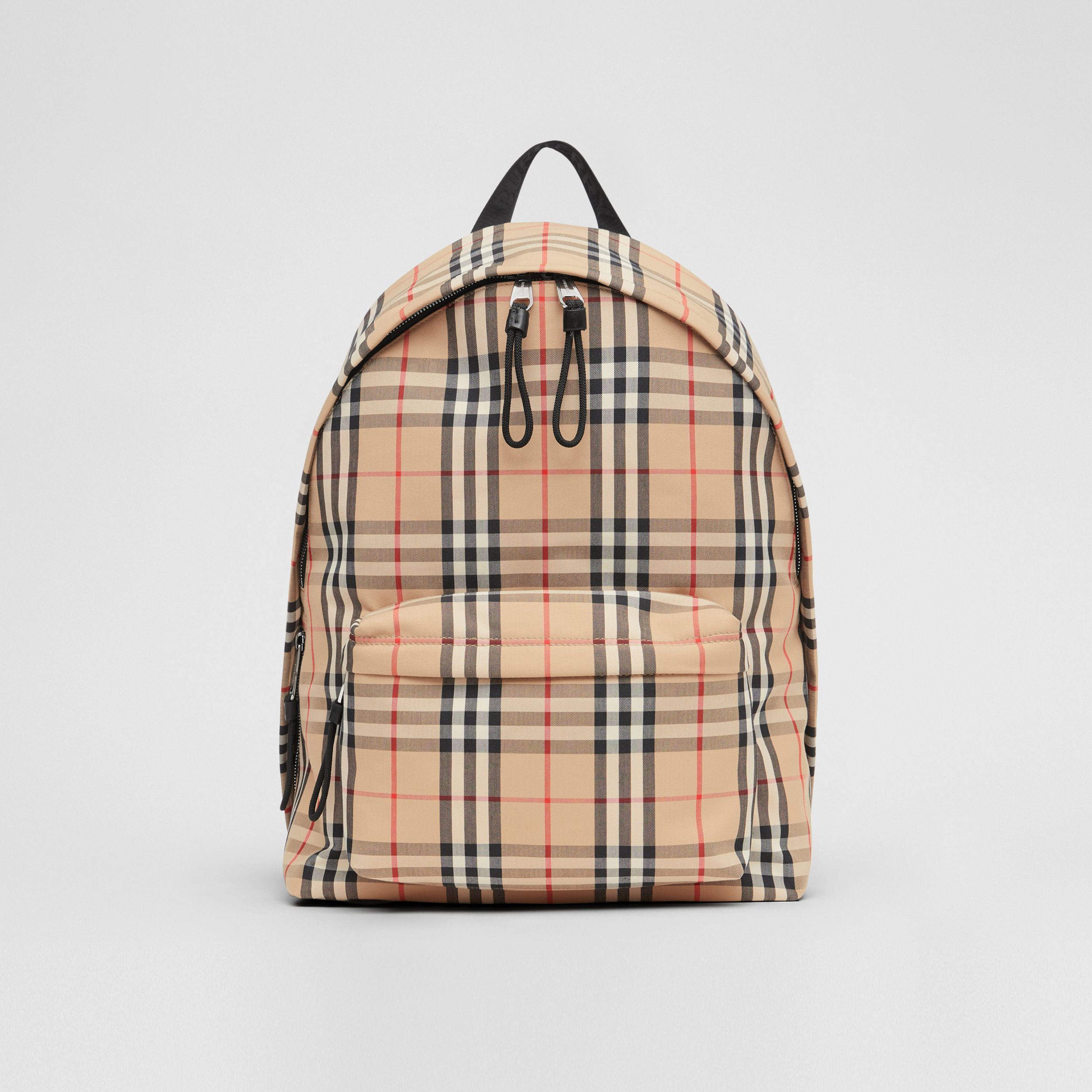 Vintage Check Nylon Backpack in Archive Beige | Burberry - 1