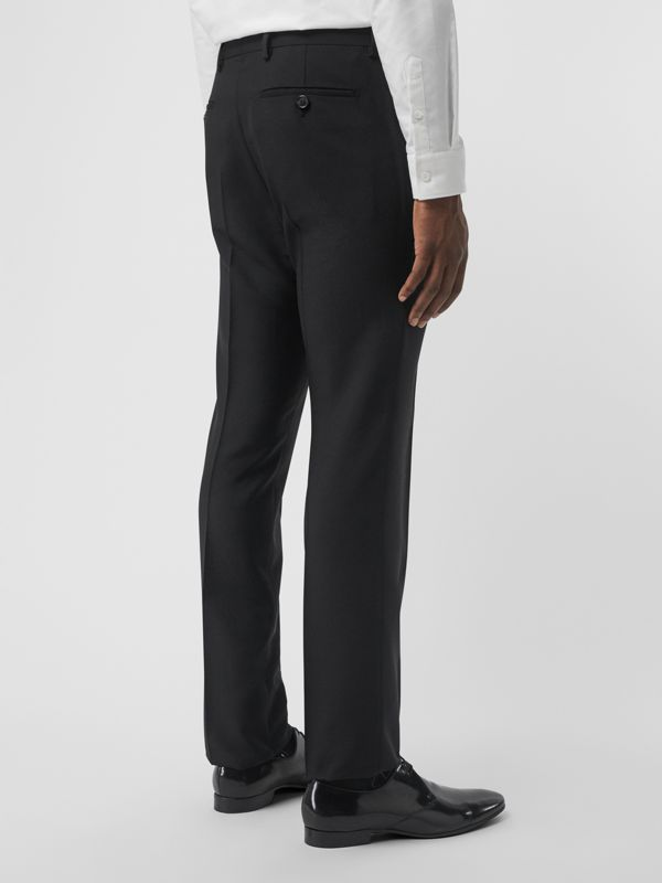 Wool Mohair Tailored Trousers in Black - Men | Burberry United Kingdom - cell image 2