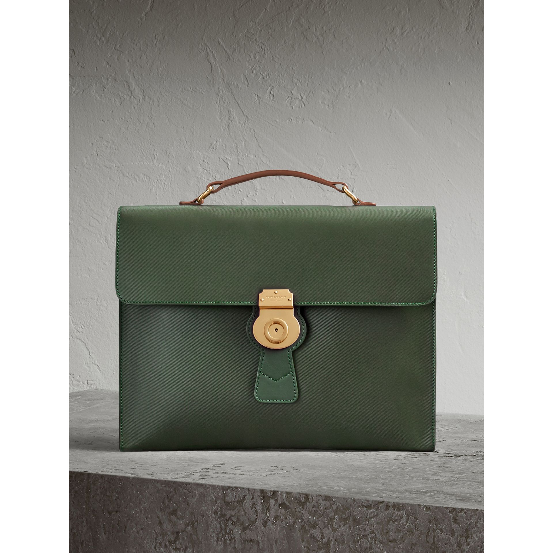 The Large DK88 Document Case in Dark Forest Green - Men | Burberry - gallery image 1