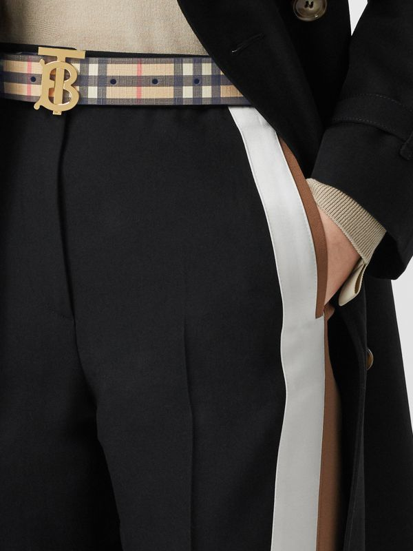 Monogram Motif Vintage Check E-canvas Belt in Archive Beige - Women | Burberry Canada - cell image 2