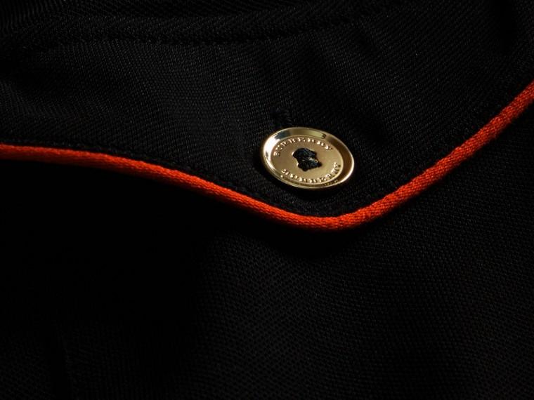 Noir Polo ajusté avec passepoils militaires Noir - cell image 1