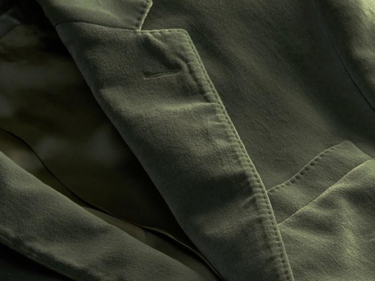 Eucalyptus pâle Veste de costume en velours - cell image 1