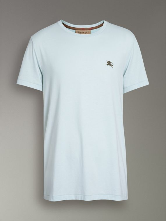 Cotton Jersey T-shirt in Pearl Blue - Men | Burberry Canada - cell image 3