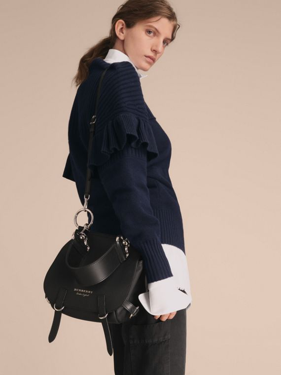 The Bridle Bag in Deerskin in Black - Women | Burberry - cell image 3