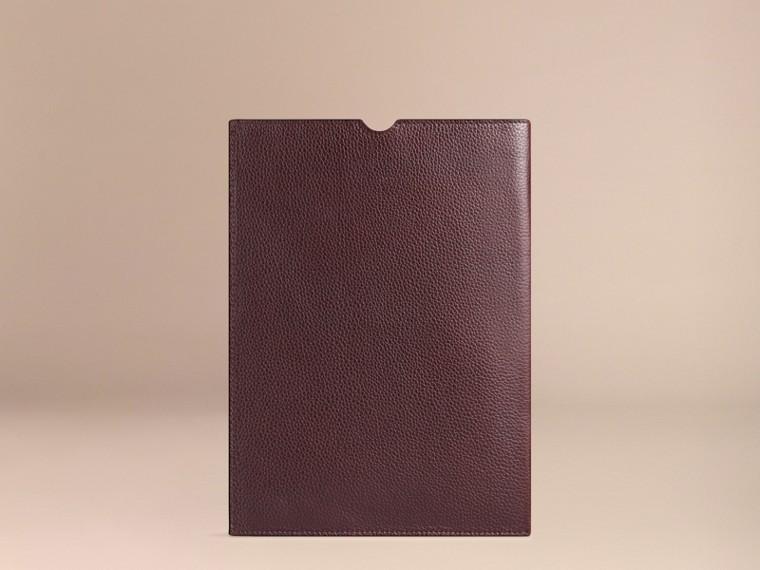 Rosso ebano Custodia per iPad in pelle a grana Rosso Ebano - cell image 1