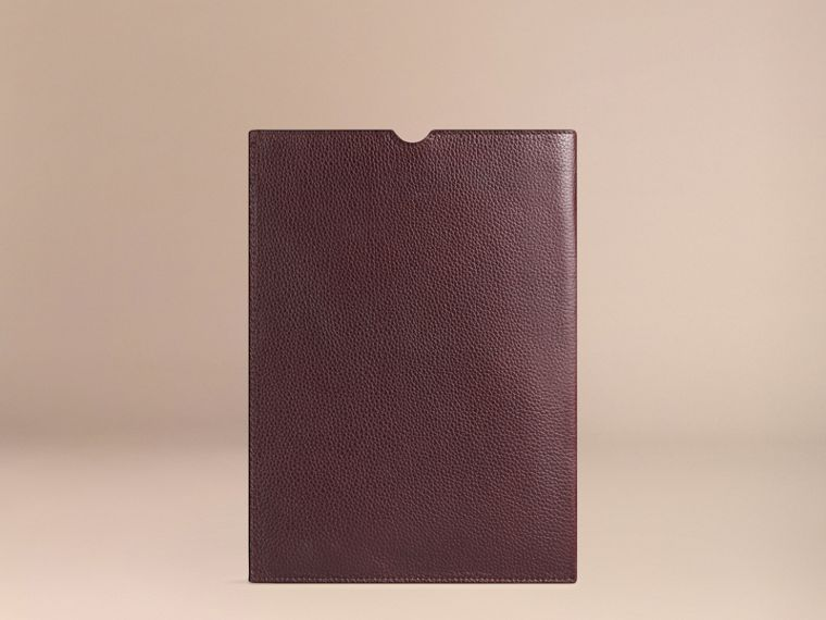 Ebony red Grainy Leather iPad Case Ebony Red - cell image 1