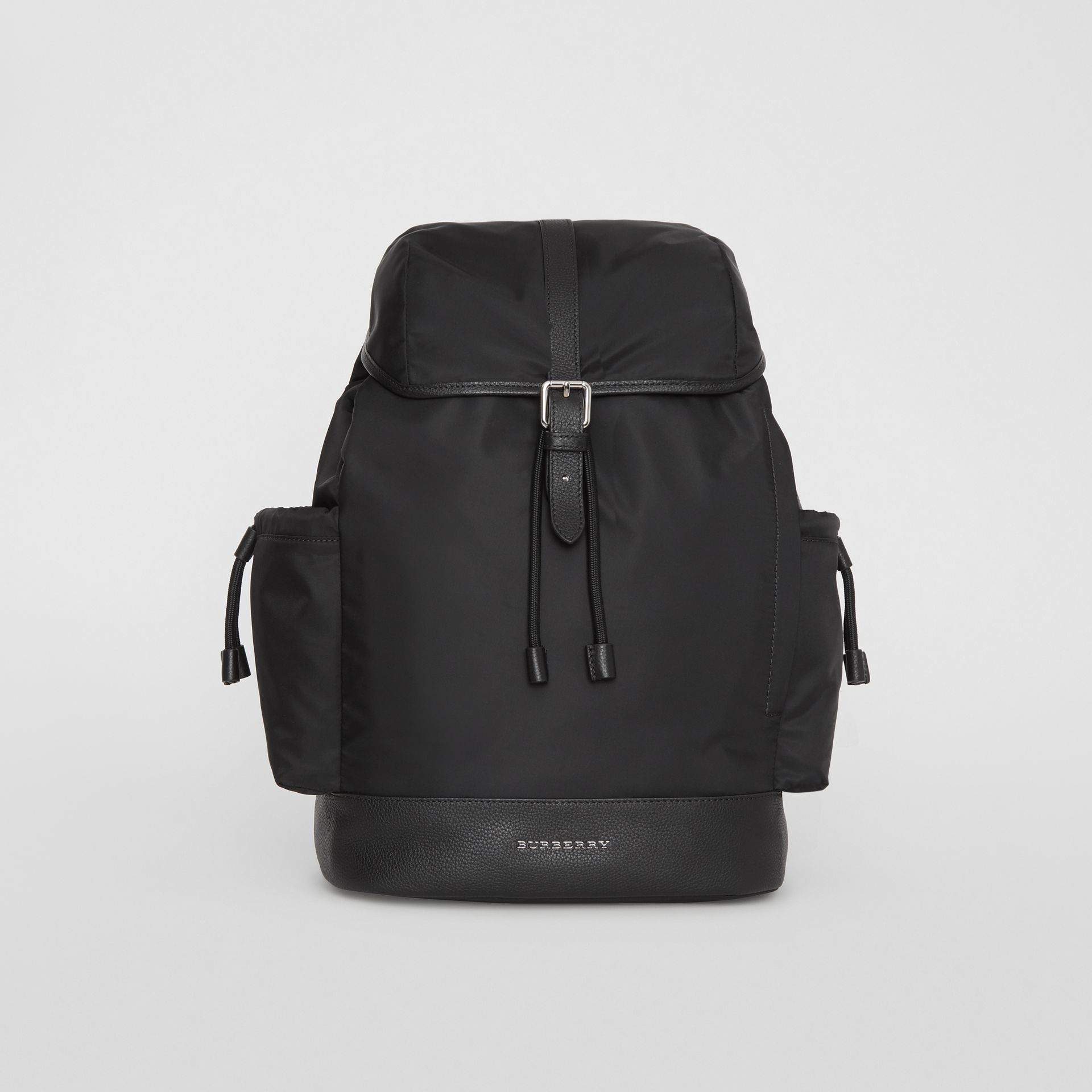 Leather Trim Baby Changing Rucksack in Black - Children | Burberry Canada - gallery image 0