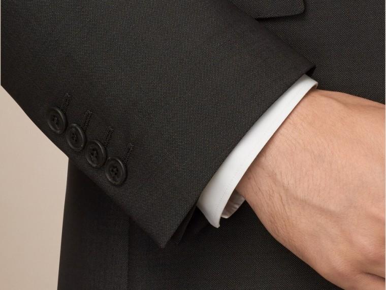 Dark grey Modern Fit Wool Mohair Part-canvas Suit Dark Grey - cell image 1