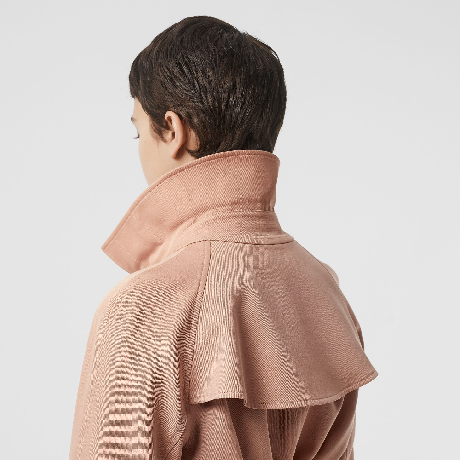 Wool Gabardine Trench Coat in Blush Pink - Women | Burberry - gallery image 5