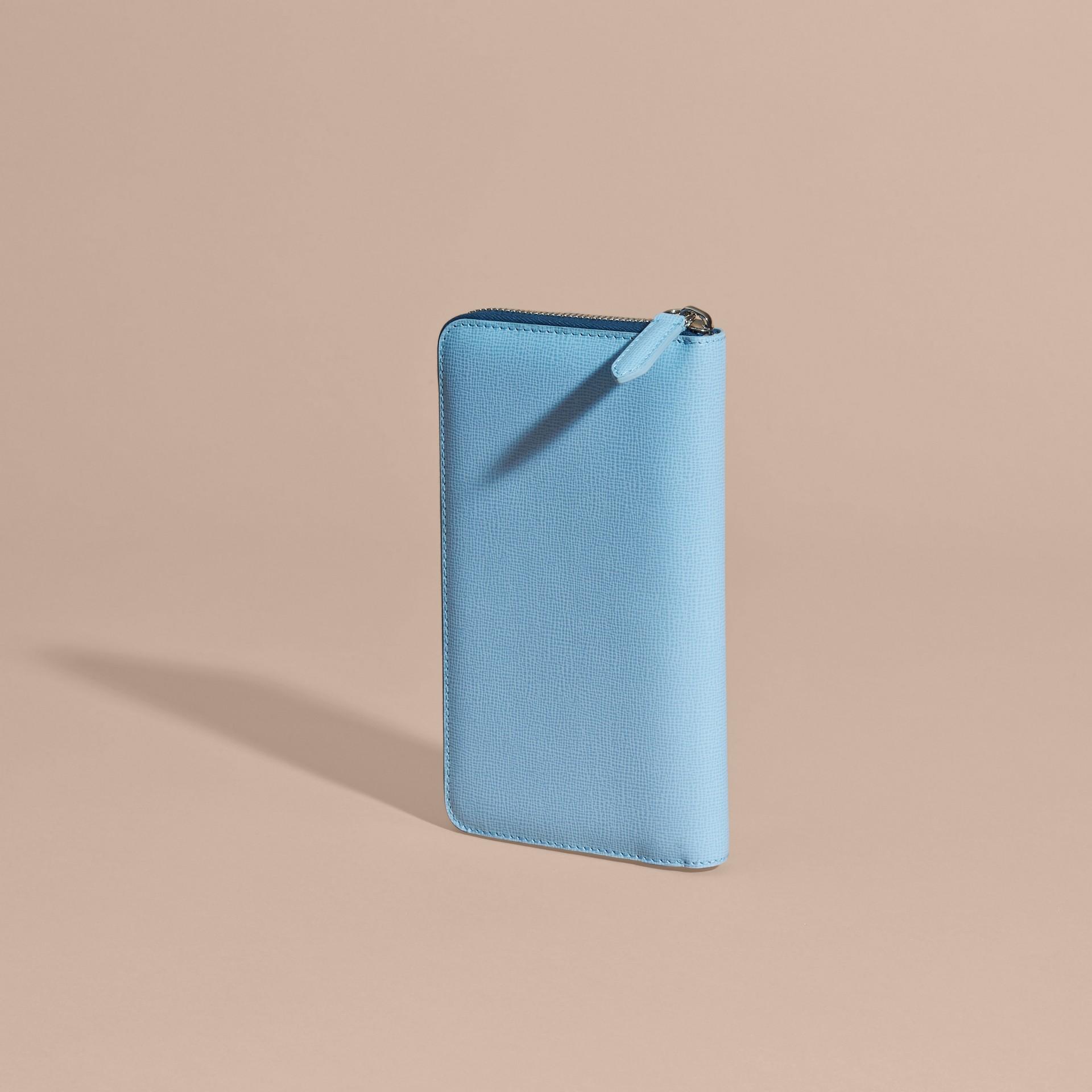 London Leather Ziparound Wallet Powder Blue - gallery image 5