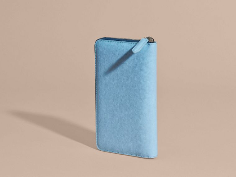 London Leather Ziparound Wallet Powder Blue - cell image 4