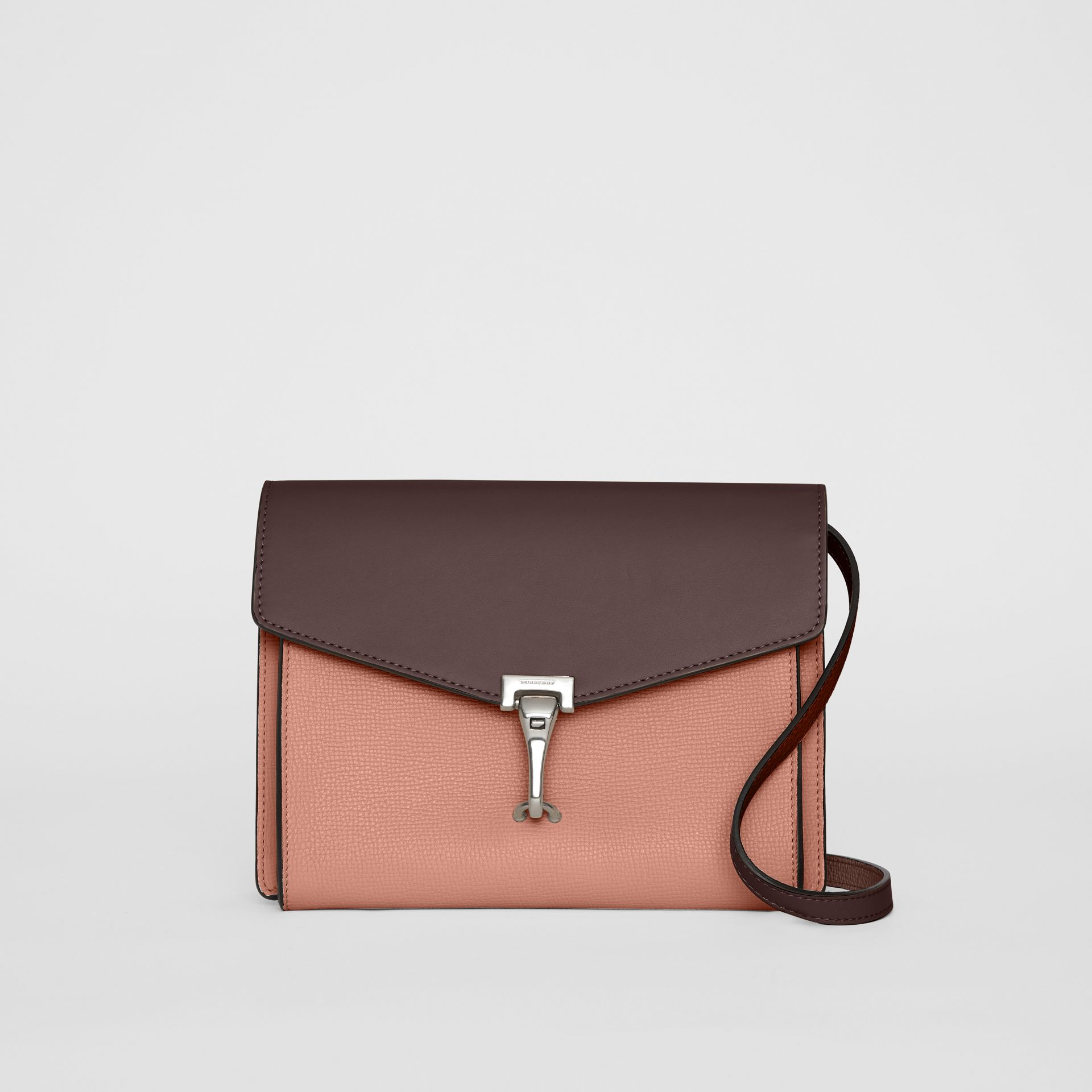 Two-tone Leather Crossbody Bag in Dusty Rose/deep Claret - Women | Burberry - gallery image 0