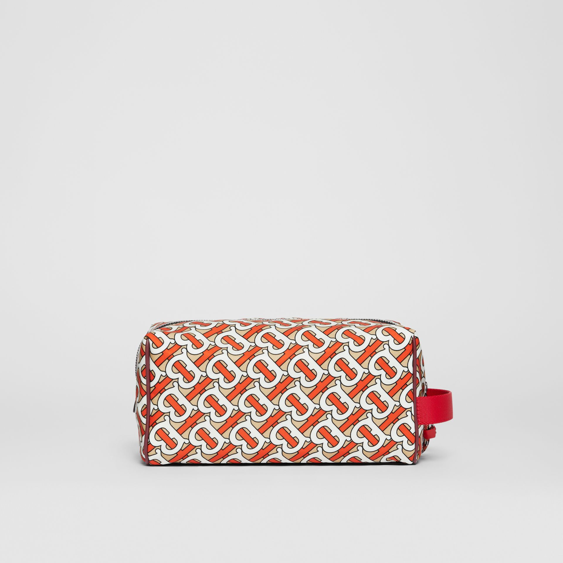 Monogram Print Nylon Pouch in Vermilion | Burberry United Kingdom - gallery image 7