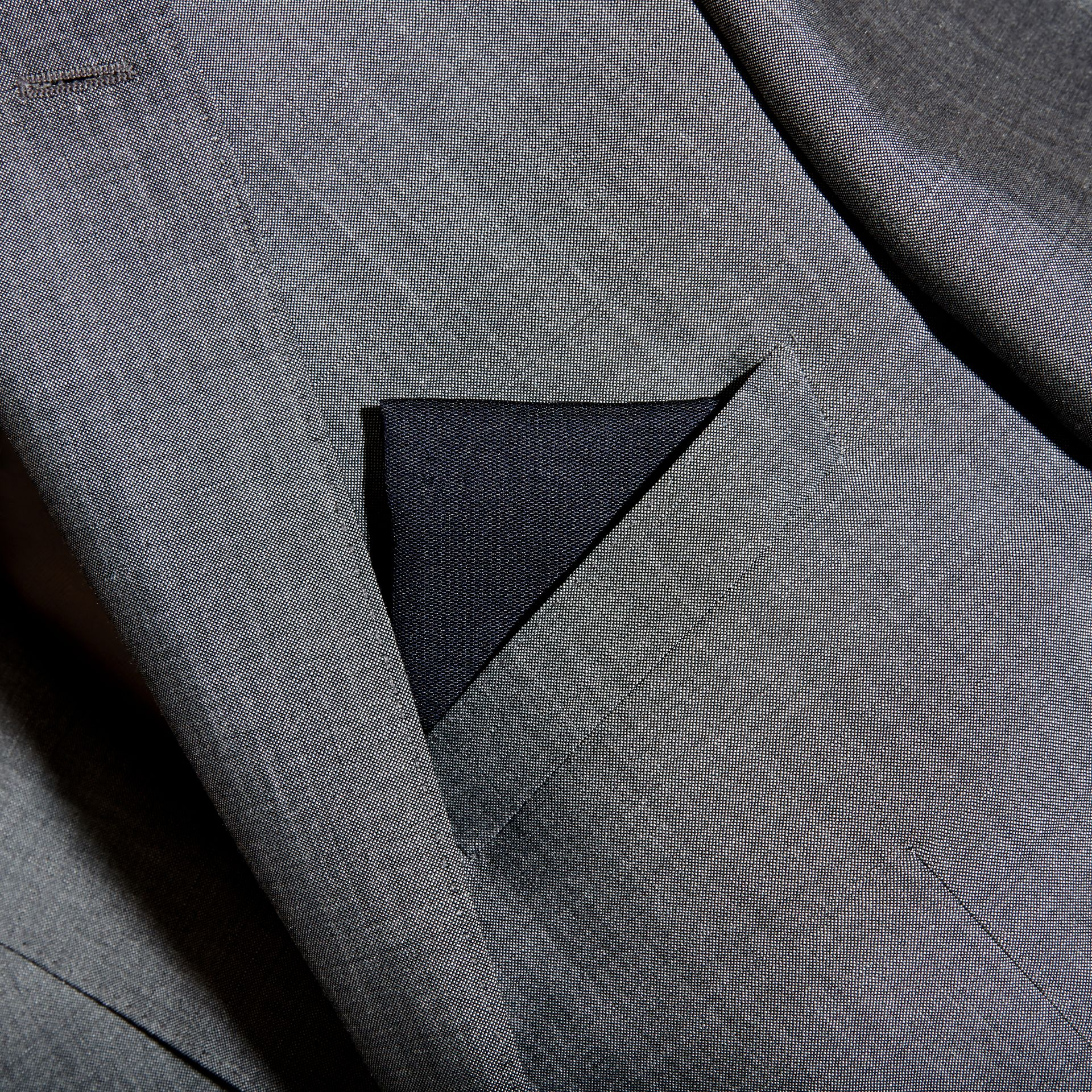 Silk Pocket Square in Midnight - Men | Burberry - gallery image 3