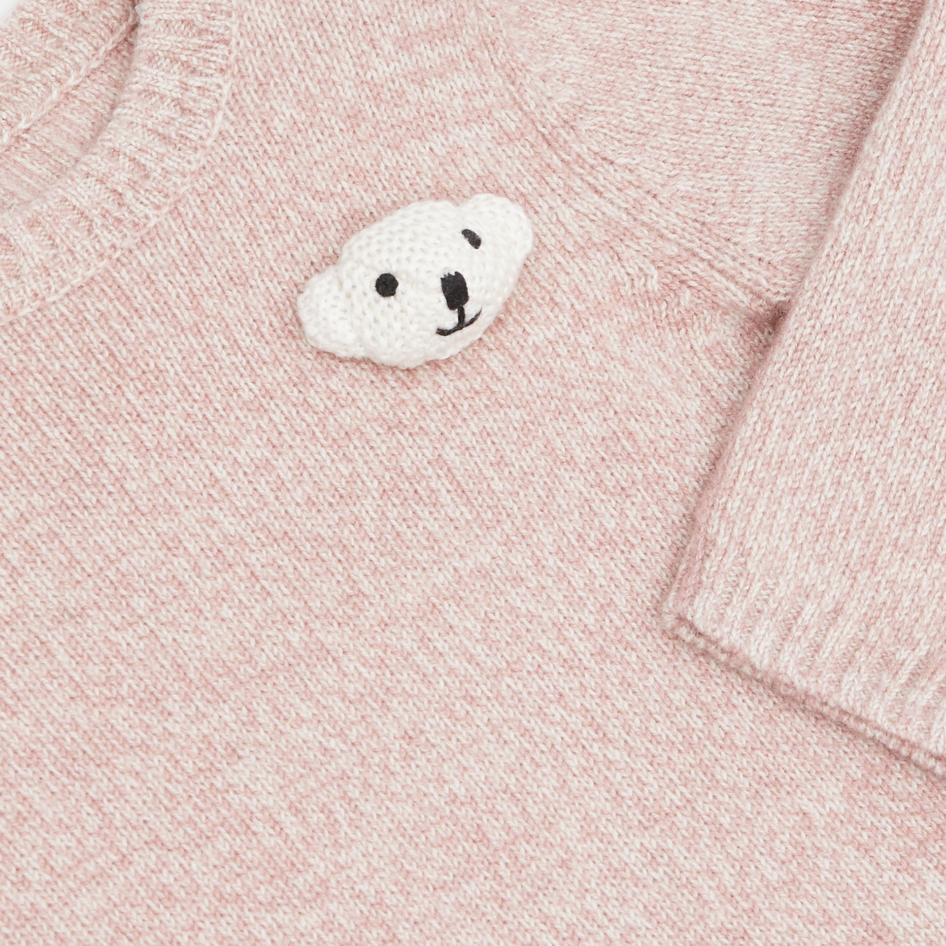 Thomas Bear Detail Wool Cashmere Sweater in Light Pink - Children | Burberry - gallery image 1