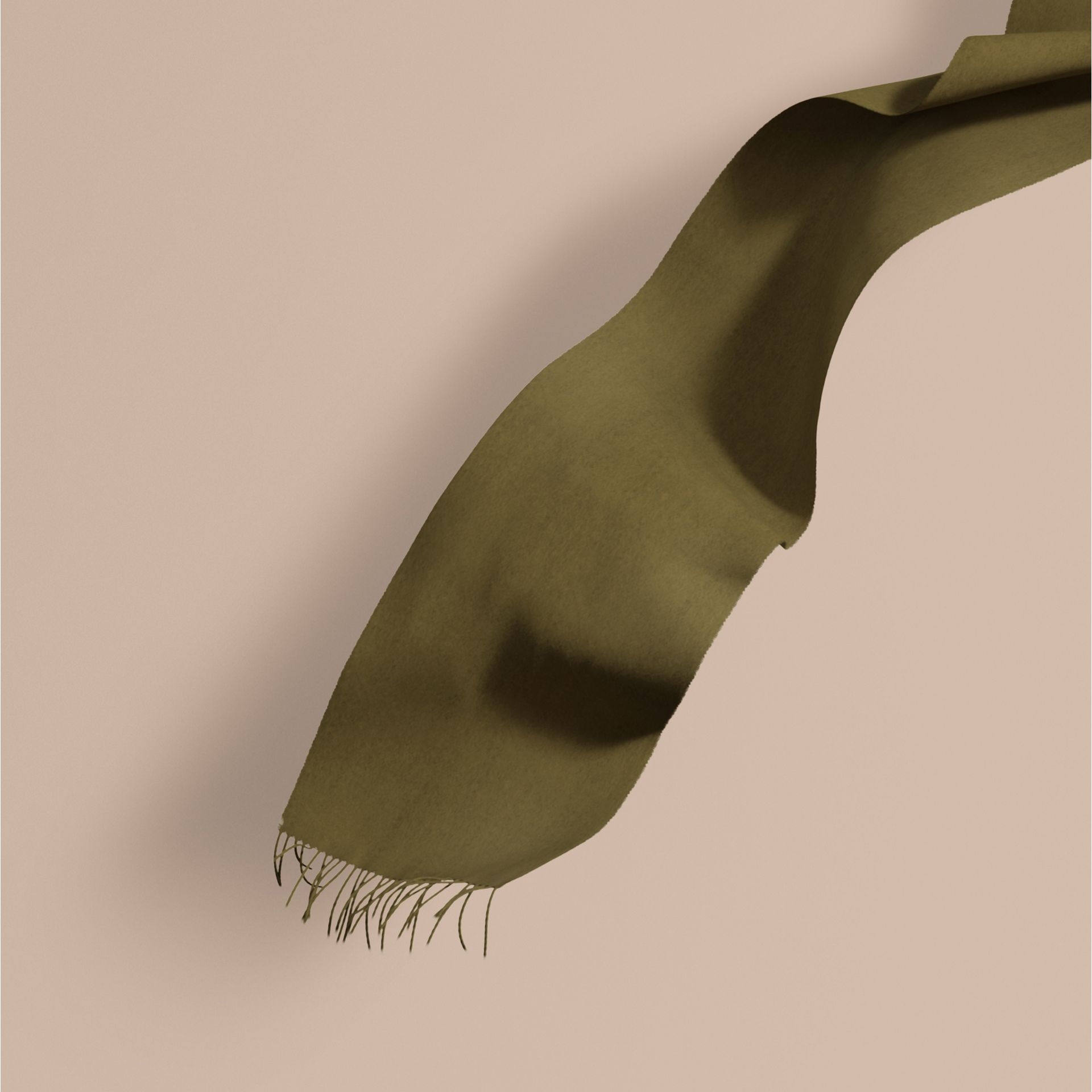 Olive green The Classic Cashmere Scarf Olive Green - gallery image 1