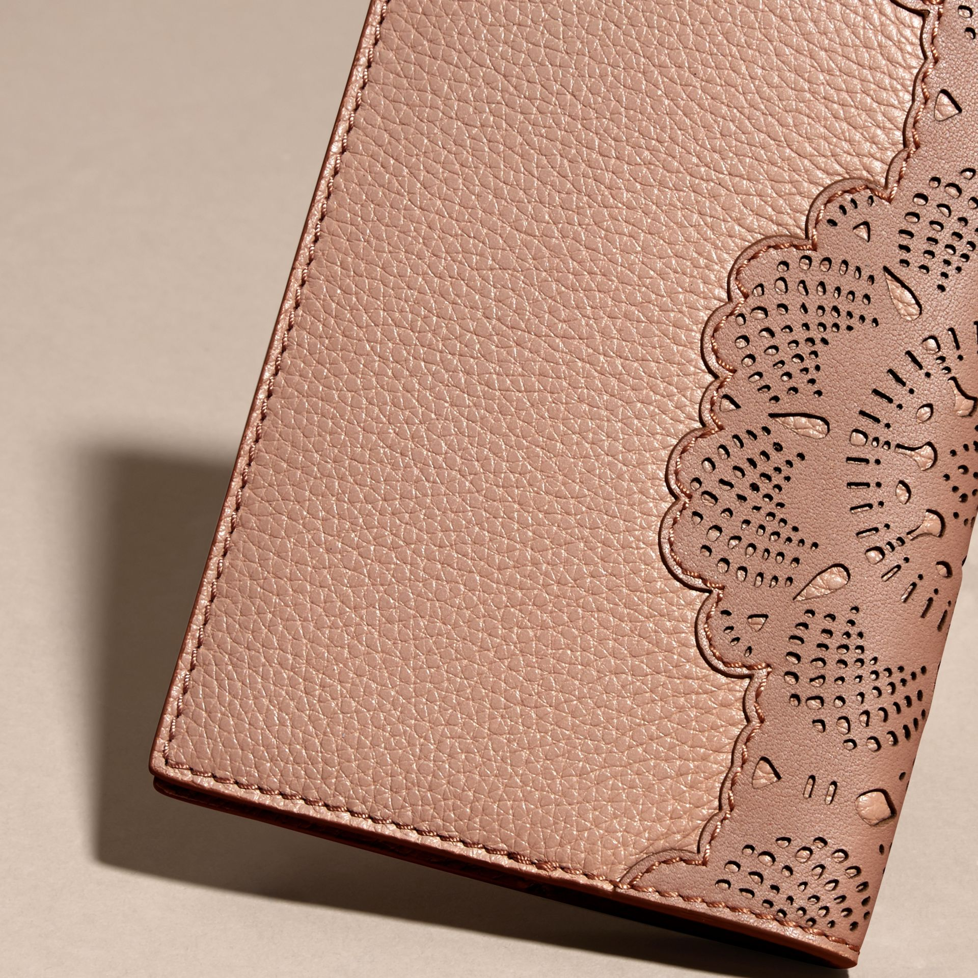 Pale apricot Grainy Leather Passport Cover Pale Apricot - gallery image 4