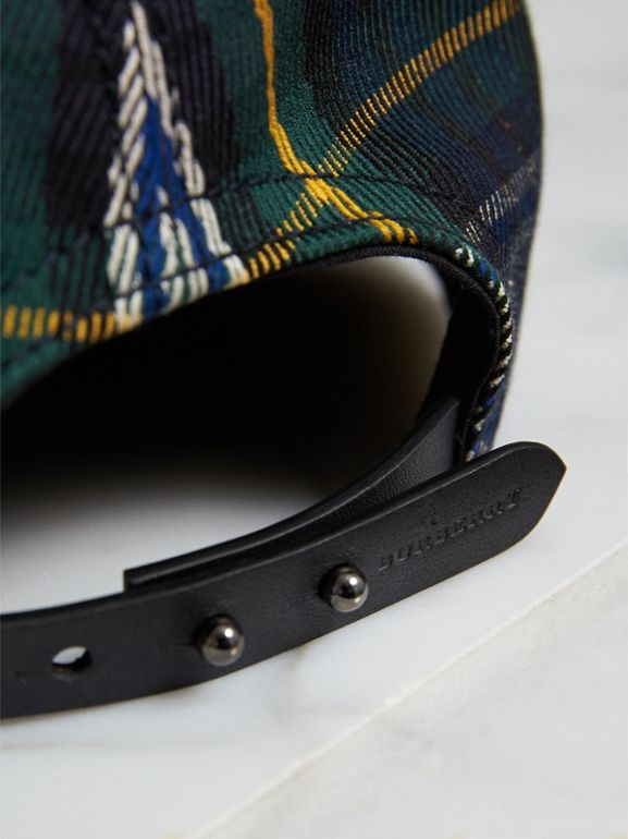 Tartan Baseball Cap in Ink Blue | Burberry United Kingdom - cell image 1