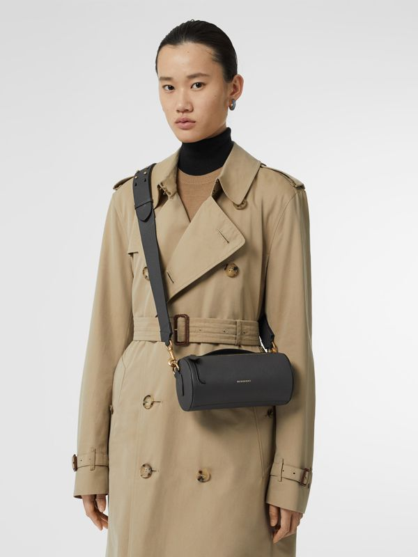Sac The Barrel en cuir (Gris Anthracite) - Femme | Burberry Canada - cell image 2