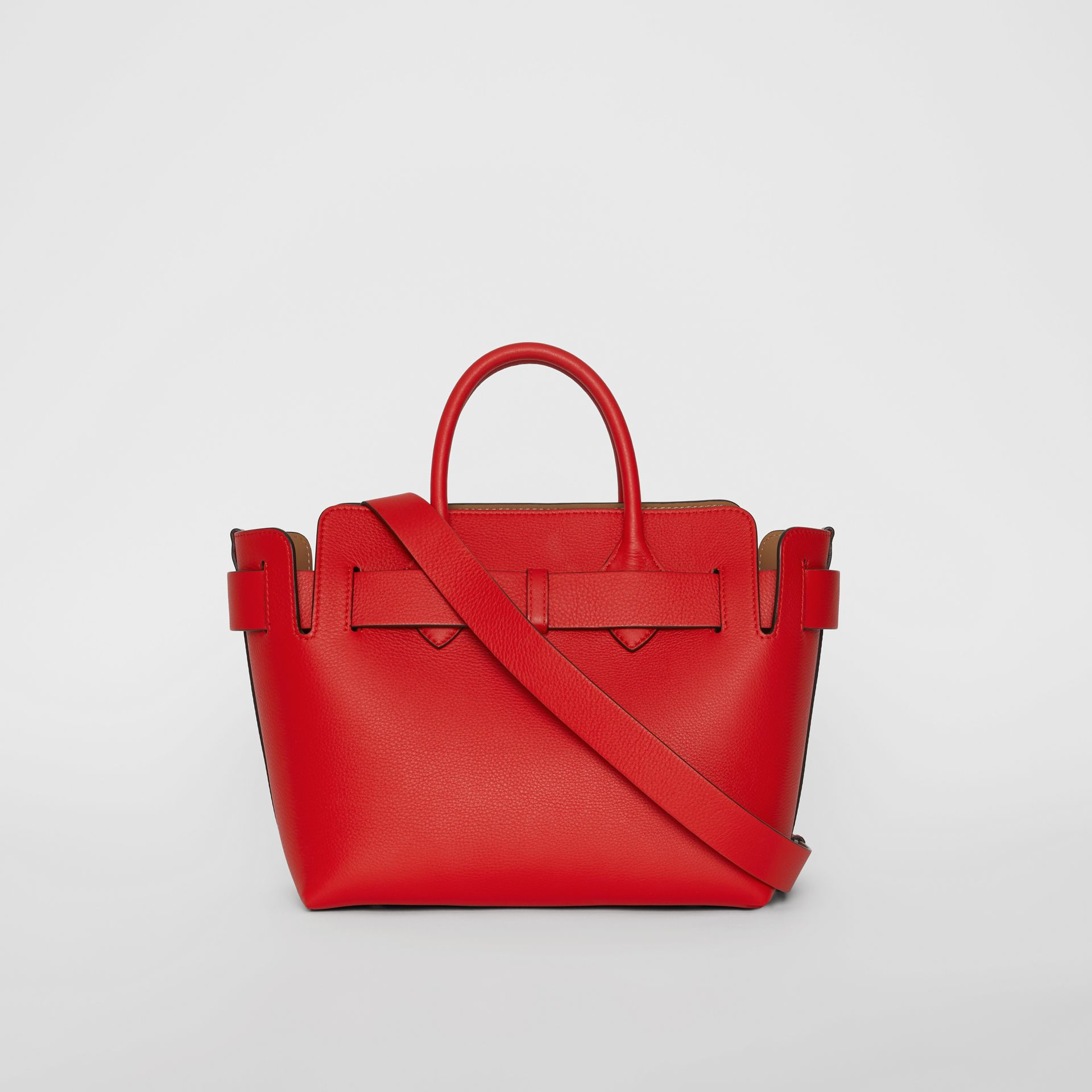 The Small Leather Triple Stud Belt Bag in Bright Military Red - Women | Burberry United States - gallery image 7