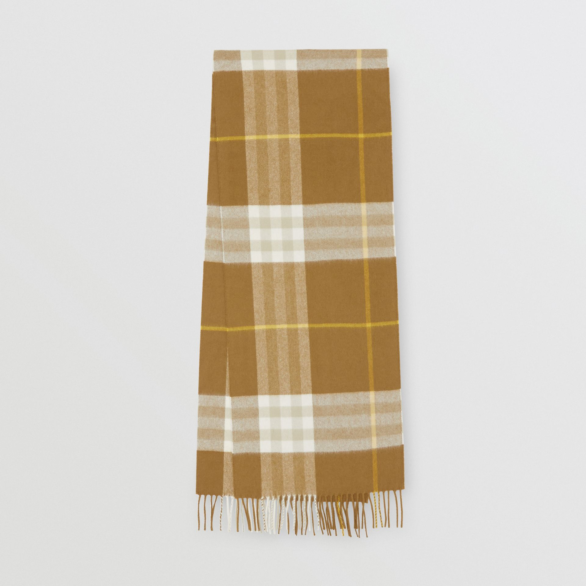 The Classic Check Cashmere Scarf in Deep Olive | Burberry - gallery image 0