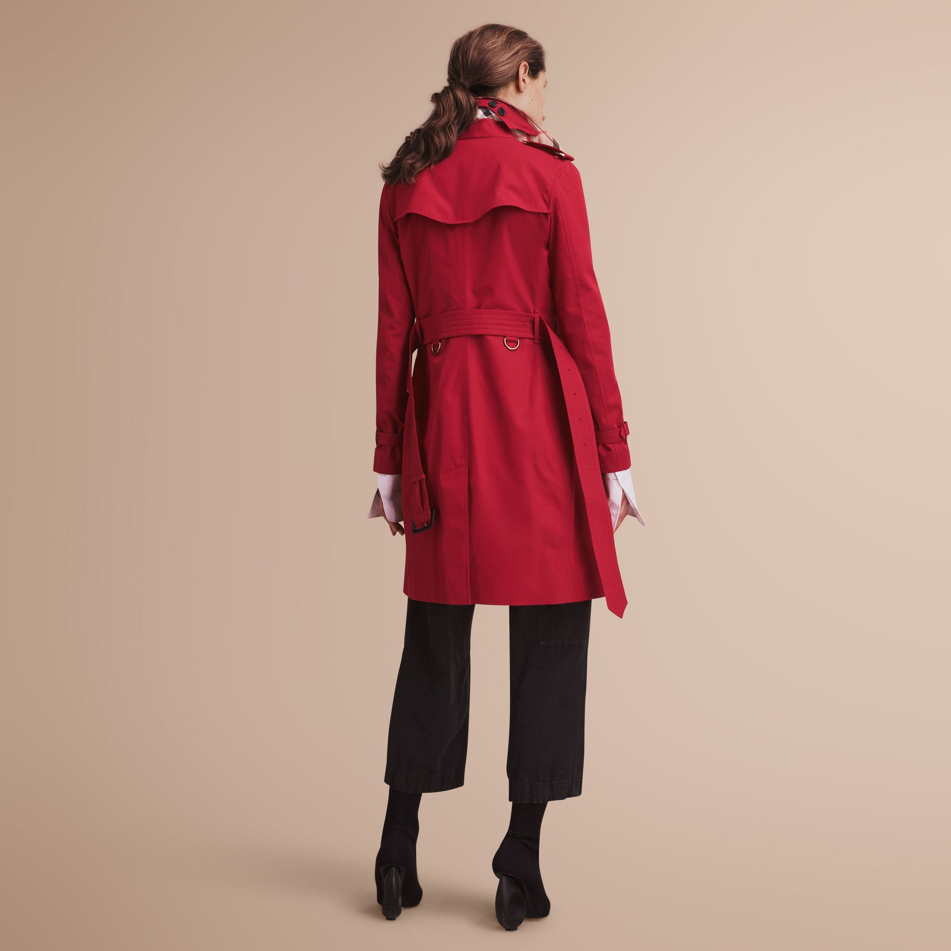The Kensington – Long Heritage Trench Coat Parade Red - gallery image 3