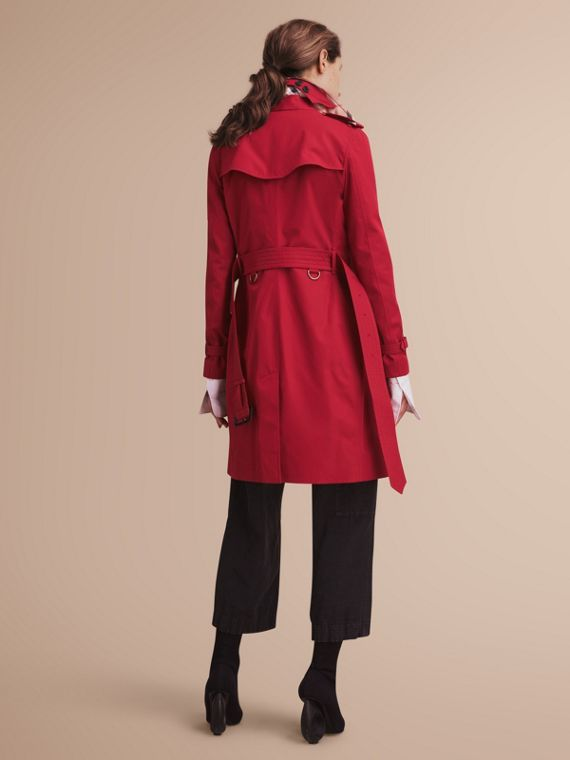 The Kensington - Trench coat Heritage lungo (Rosso Parata) - Donna | Burberry - cell image 2