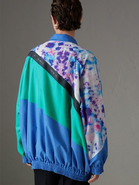 Reversible Tie-dye Silk Shell Suit Jacket in Turquoise | Burberry - cell image 2