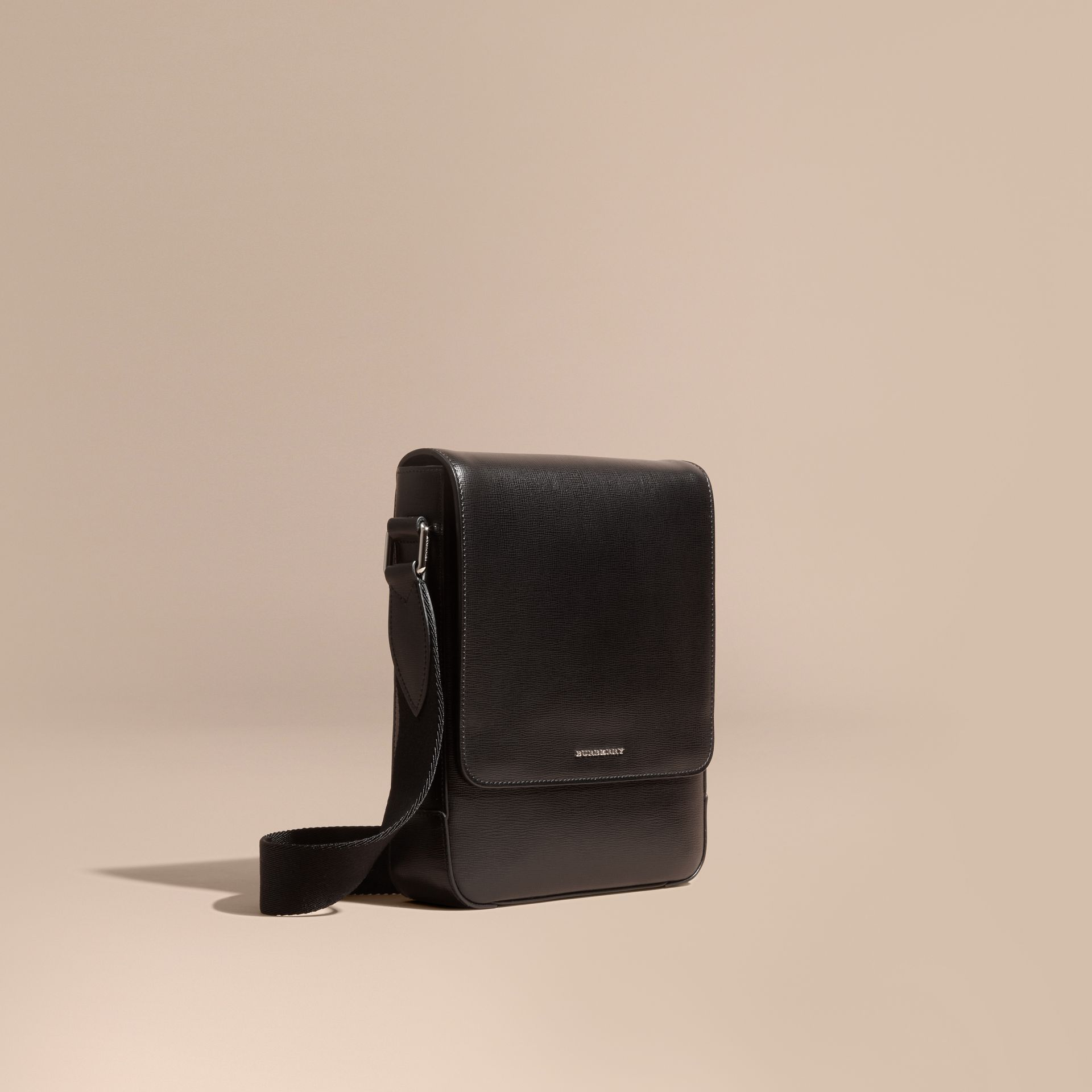 Black London Leather Crossbody Bag Black - gallery image 1