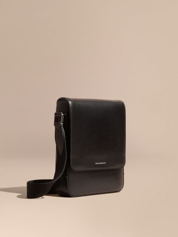 London Leather Crossbody Bag in Black