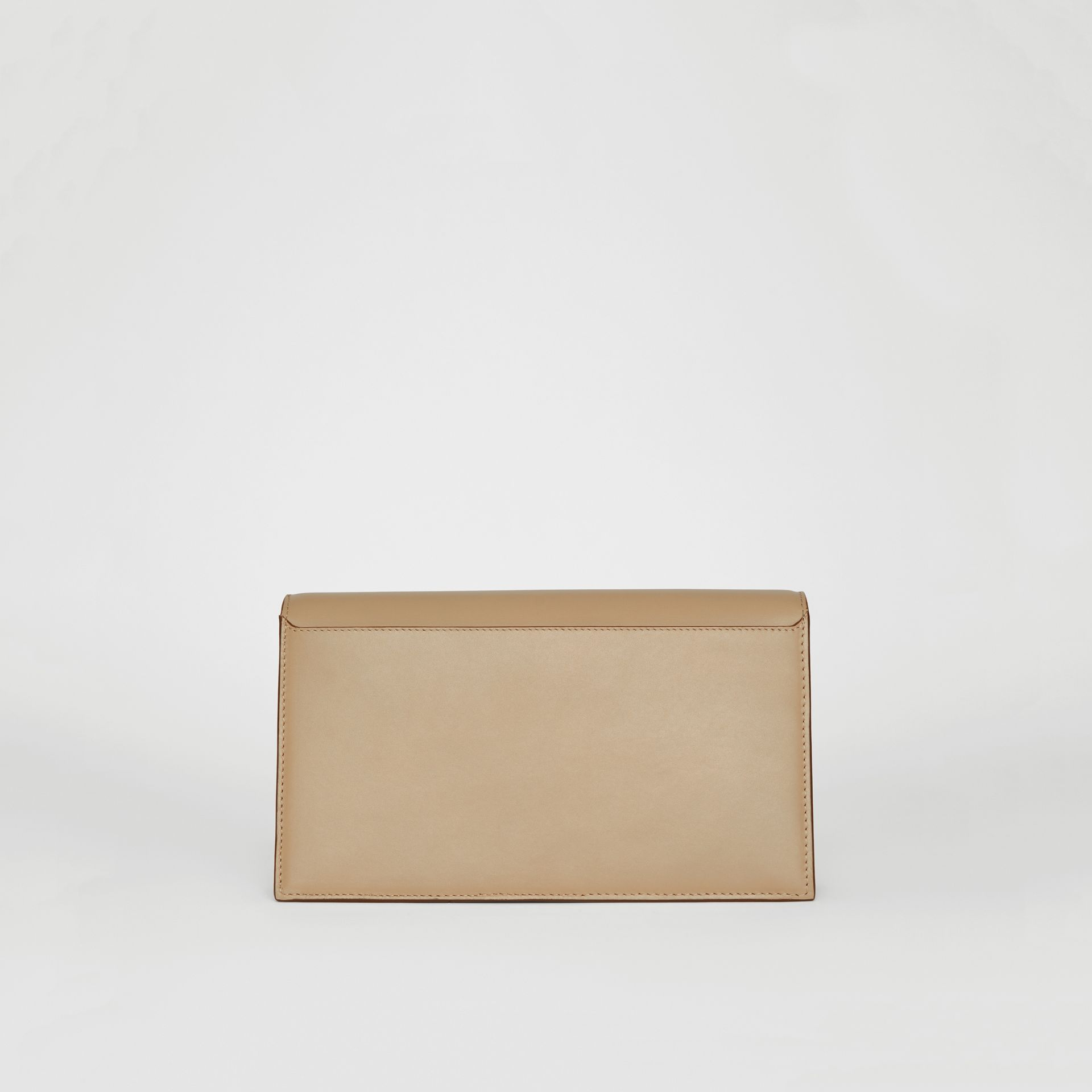 Small Leather TB Envelope Clutch in Honey - Women | Burberry - gallery image 8