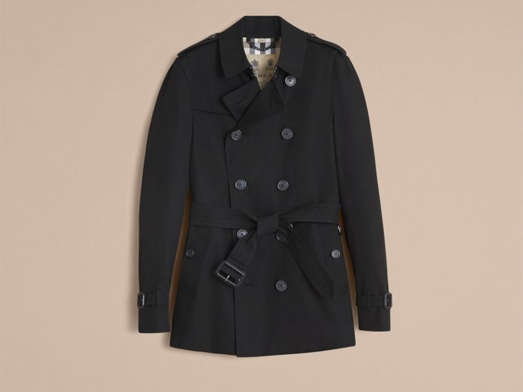 Black The Chelsea – Short Heritage Trench Coat Black - cell image 4