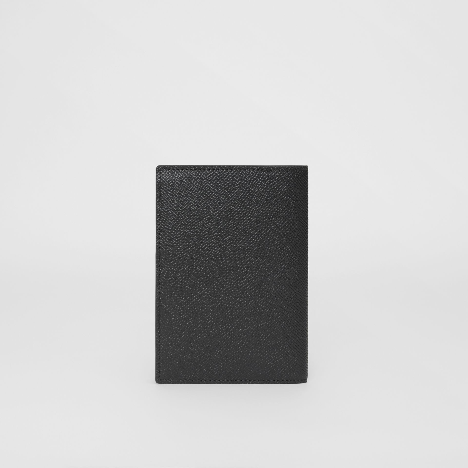 Grainy Leather Passport Holder in Black - Men | Burberry United States - gallery image 4